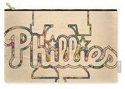 Philadelphia Phillies Logo Art Carry-all Pouch