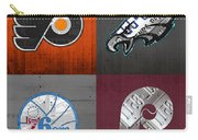 Philadelphia Sports Fan Recycled Vintage Pennsylvania License Plate Art Flyers Eagles 76ers Phillies Carry-all Pouch