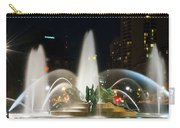 Philadelphia - Swann Fountain - Night Carry-all Pouch by Bill Cannon