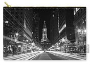 Philadephia City Hall -- Black And White Carry-all Pouch
