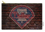 Phillies Baseball Graffiti On Brick  Carry-all Pouch by Movie Poster Prints