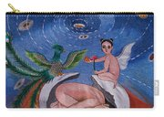 Phoenix Hand Embroidery Carry-all Pouch