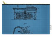 Phonograph Blueprint Patent Drawing Carry-all Pouch