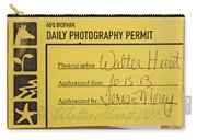 Photo Permit Carry-all Pouch
