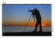 Photographer At Sunset Carry-all Pouch