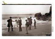 Photographer On The Beach California  Circa 1887 Carry-all Pouch