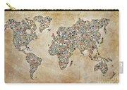 Photographer World Map Carry-all Pouch