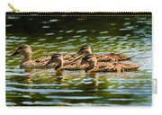 Photography Painting Of Mother And Her Ducklings Carry-all Pouch