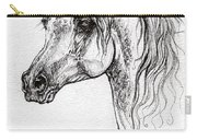 Piaff Polish Arabian Horse Drawing 1 Carry-all Pouch