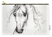 Piaff Polish Arabian Horse Drawing Carry-all Pouch