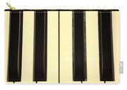 Piano Keys In Sepia Carry-all Pouch