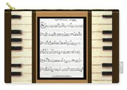 piano keys sheet music to Keep Of The Promise by Kristie Hubler Carry-all Pouch