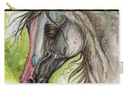 Piber Polish Arabian Horse Watercolor Painting 3 Carry-all Pouch