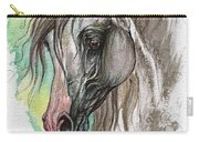 Piber Polish Arabian Horse Watercolor Painting Carry-all Pouch