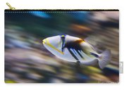 Picasso - Lagoon Triggerfish Rhinecanthus Aculeatus Carry-all Pouch