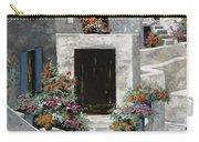 piccole case bianche di Grecia Carry-all Pouch by Guido Borelli
