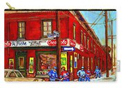 Piche's Grocery Store Bridge Street And Forfar Goosevillage Montreal Memories By Carole Spandau Carry-all Pouch