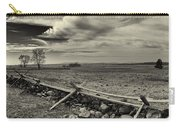 Picketts Charge The Angle Black And White Carry-all Pouch