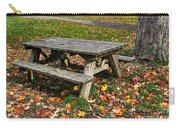 Picnic Table In Autumn Carry-all Pouch