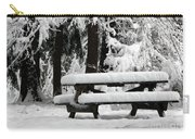 Picnic Table In The Snow Carry-all Pouch