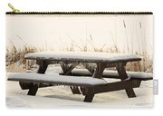 Picnic Table In Winter Carry-all Pouch