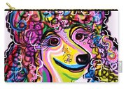 Picture Perfect Poodle  Carry-all Pouch by Eloise Schneider