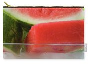 Pieces Of Watermelon In A Bowl Of Ice Cubes Carry-all Pouch