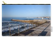 Pier And Promenade By The Atlantic Ocean In Cascais Carry-all Pouch