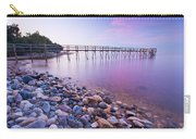Pier And Shoreline Of Lake Winnipeg Carry-all Pouch
