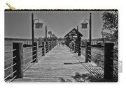 Pier At Fort Wilderness In Black And White Walt Disney World Carry-all Pouch