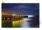 Pier At Night Carry-all Pouch by Carlos Caetano