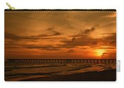 Pier At Sunset Carry-all Pouch by Sandy Keeton