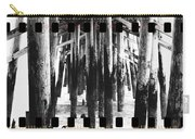 Pier Pilings Black And White Carry-all Pouch
