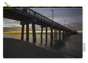 Pier Sunrise On A Cold January Morning Carry-all Pouch