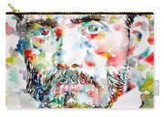 Pierre-auguste Renoir Watercolor Portrait Carry-all Pouch