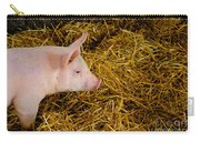 Pig Standing In Hay Carry-all Pouch