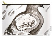 Pigeon I Sumi-e Style Carry-all Pouch