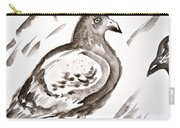 Pigeon II Sumi-e Style Carry-all Pouch