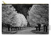 Pigeon Mountain Dogwoods In Black And White Carry-all Pouch