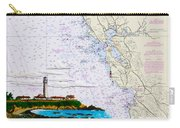 Pigeon Point Lighthouse On Noaa Nautical Chart Carry-all Pouch