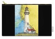 Pigeon Pt Lighthouse Ca Nautical Chart Map Art Carry-all Pouch