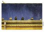 Pigeons On Yellow Roof Carry-all Pouch