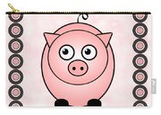 Piggy - Animals - Art For Kids Carry-all Pouch