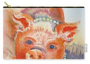 Piggy In Pearls Carry-all Pouch