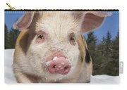 Piglet Walking In The Snow Carry-all Pouch