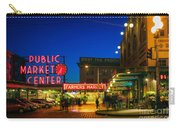 Pike Place Market Carry-all Pouch by Inge Johnsson