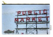 Pike Place Market Carry-all Pouch by Linda Woods