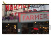 Pike Place Publice Market Neon Sign And Limo Carry-all Pouch