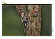 Pilated Woodpecker Family Carry-all Pouch by Susan Candelario