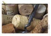 Pile Of Wine Corks With Corkscrew Carry-all Pouch